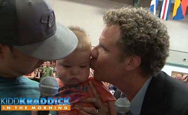 Will Ferrell and Zach Galifianakis Kiss J-Si's Baby For ...
