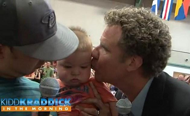 baby Cason kiss