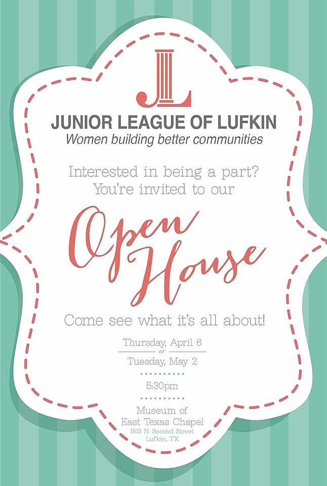 Jr. League Of Lufkin via Facebook
