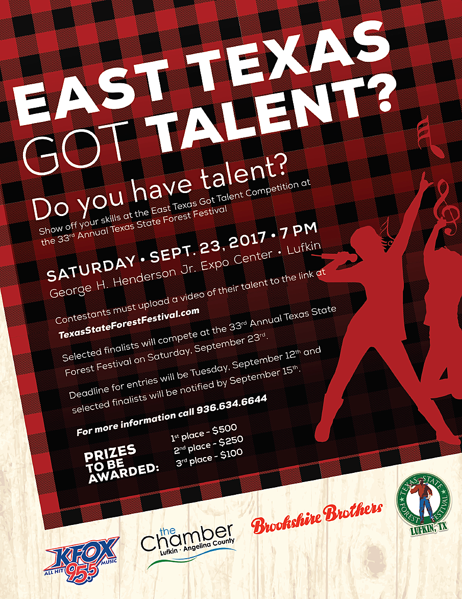 East Texas Got Talent Flyer 2017